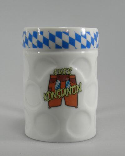 Bierkrugbecher_mit Logo und Rautenband bedruckt