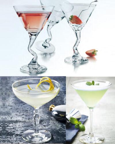 Mix aus Cocktailgläsern