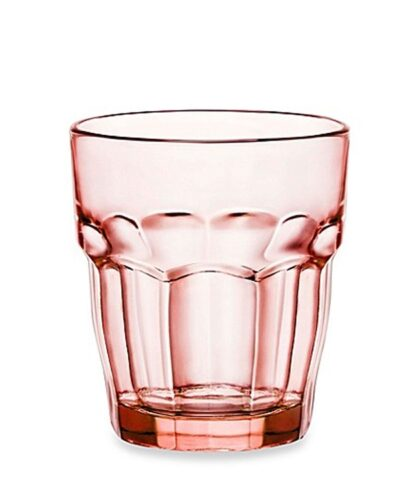 durchgefärbtes Farbglas im Pfirsichton