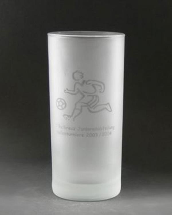 Glossydruck Flussdruck auf satiniertes Glas