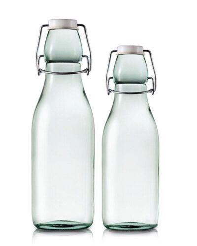 Grünglas Milchflasche mit Drahtbügelverschluss