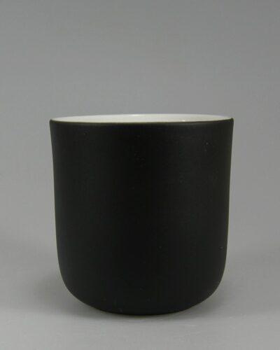 Porzellanbecher Porzellantasse Daenemark schwarz per Hydroglasur