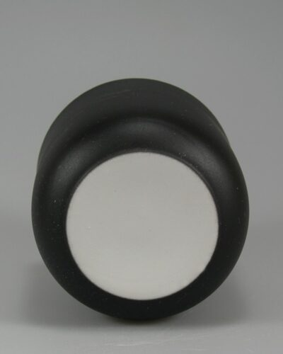 Porzellanbecher Porzellantasse Daenemark schwarz Unterseite