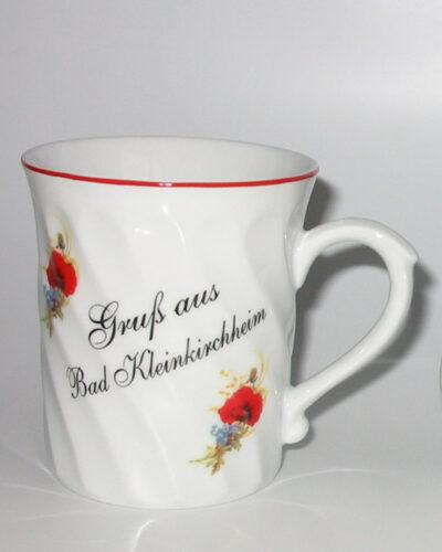 Porzellan Tasse mit Relief als Souvenirtasse bedruckt
