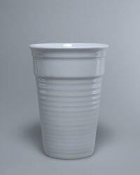 Porzellan Rillenbecher Plastikersatz Kunststoffersatz
