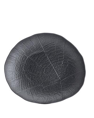 SHADE schwarze ovale Porzellanplatte 37cm