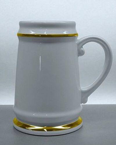 Porzellankrug mit Goldlinie Burgherrren
