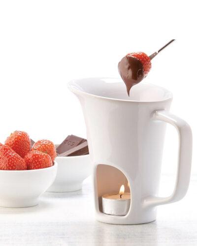 Schokoladenfondue Hot Chocolate mit Teelicht