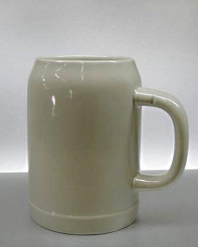 Bierkrug Weihenstephaner grau beige 0,5l