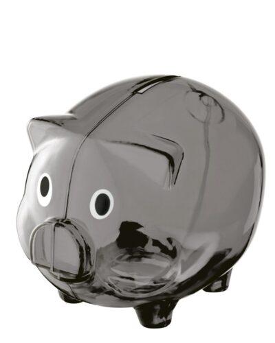 Kunststoff Sparschwein grau