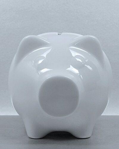 Porzellansparschwein GERDI 12cm frontal