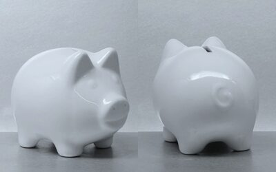 Sparschwein Porzellan LISSY 10cm beidseiig