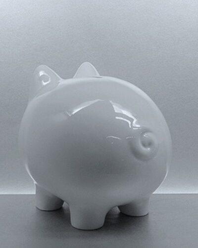 Sparschwein Porzellan LISSY 17cm Rückseite