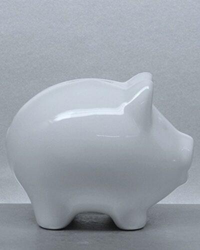 Sparschwein Porzellan LISSY seitlich