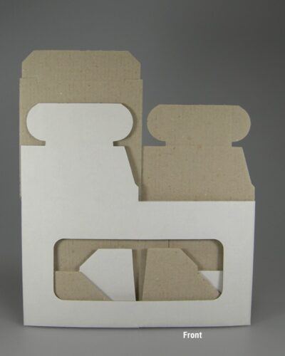 Einzelumkarton mit Sichtfenster flach frontal