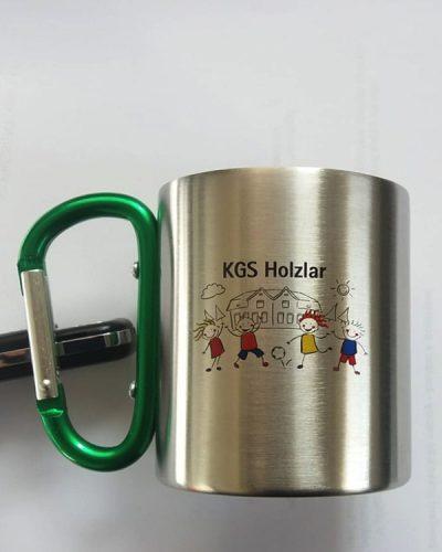 Karabiner Tasse Karabinerbecher KGS mit Direktdruck