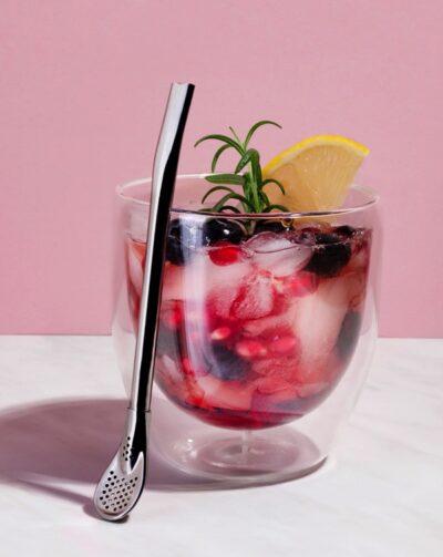 Edelstahl Trinkhalm mit Filter_drinkeasy_Spoon