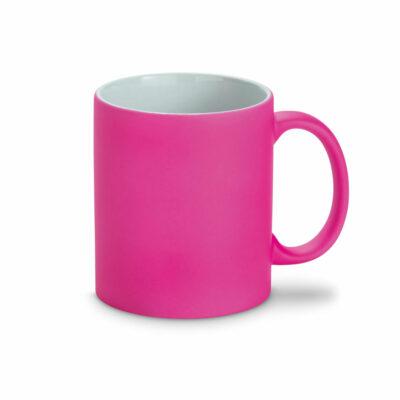 pink Farbkeramikbecher Neon mit Kreide beschreibbar