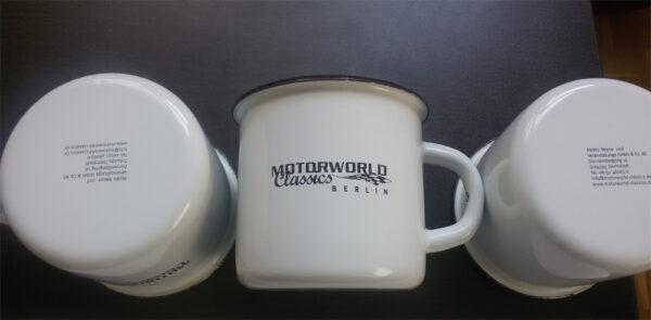 Motorworld Classics Logo und Bodenmarke Direktdruck