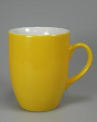 Porzellanbecher EVA gelb gespritzt
