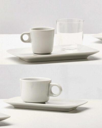 TONO Tassen mit rechteckigem Unterteller