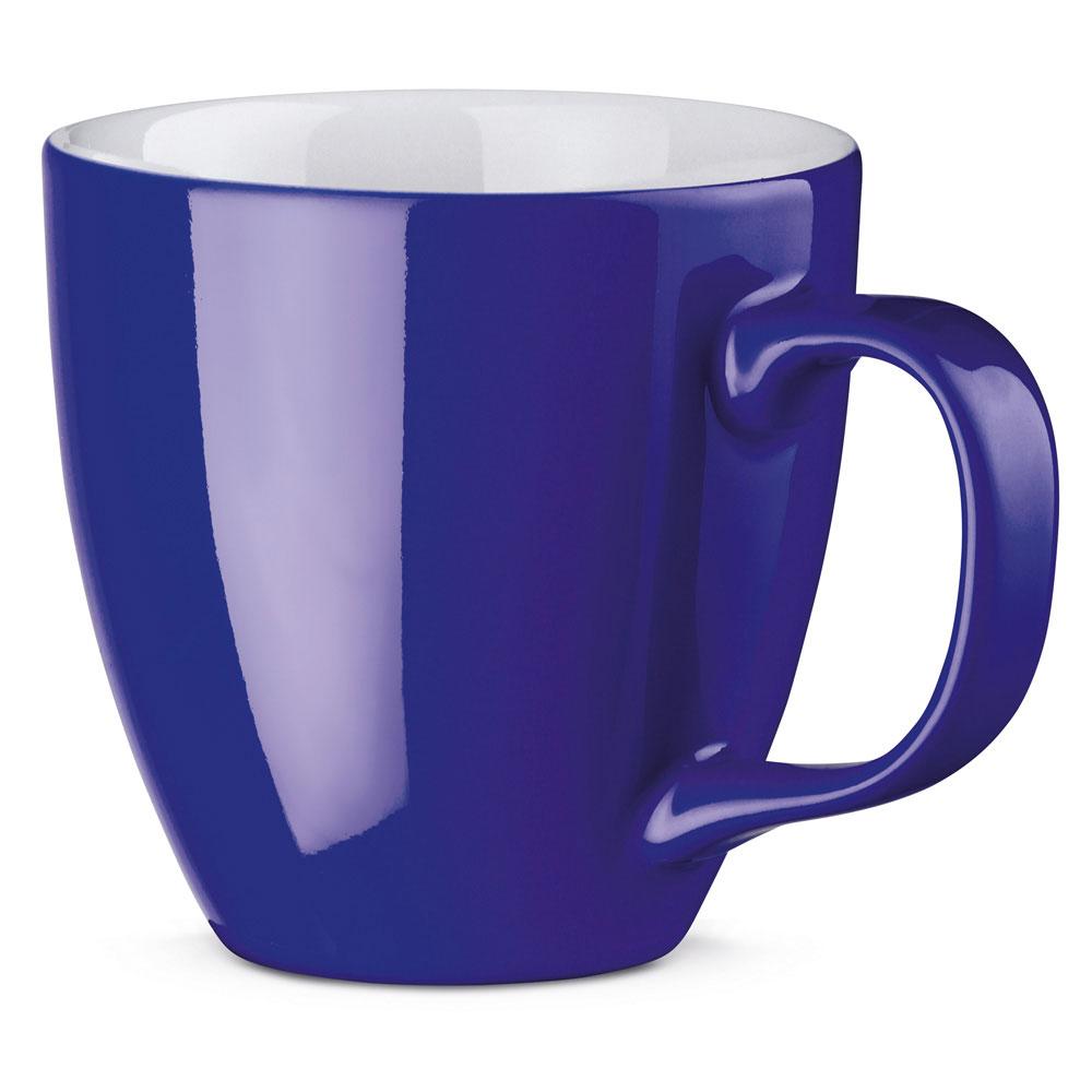 Porzellantasse farbig gespritzt Blau Kobalt