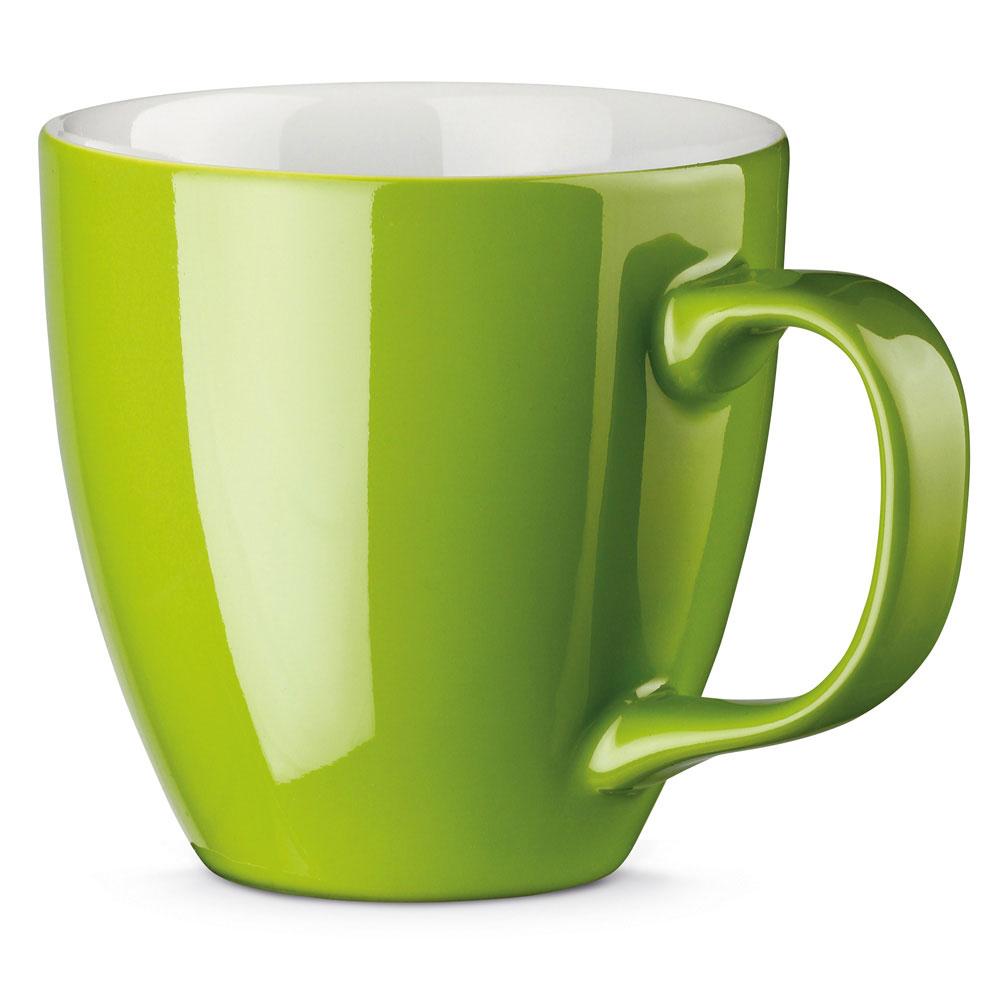 Porzellantasse farbig gespritzt Grün