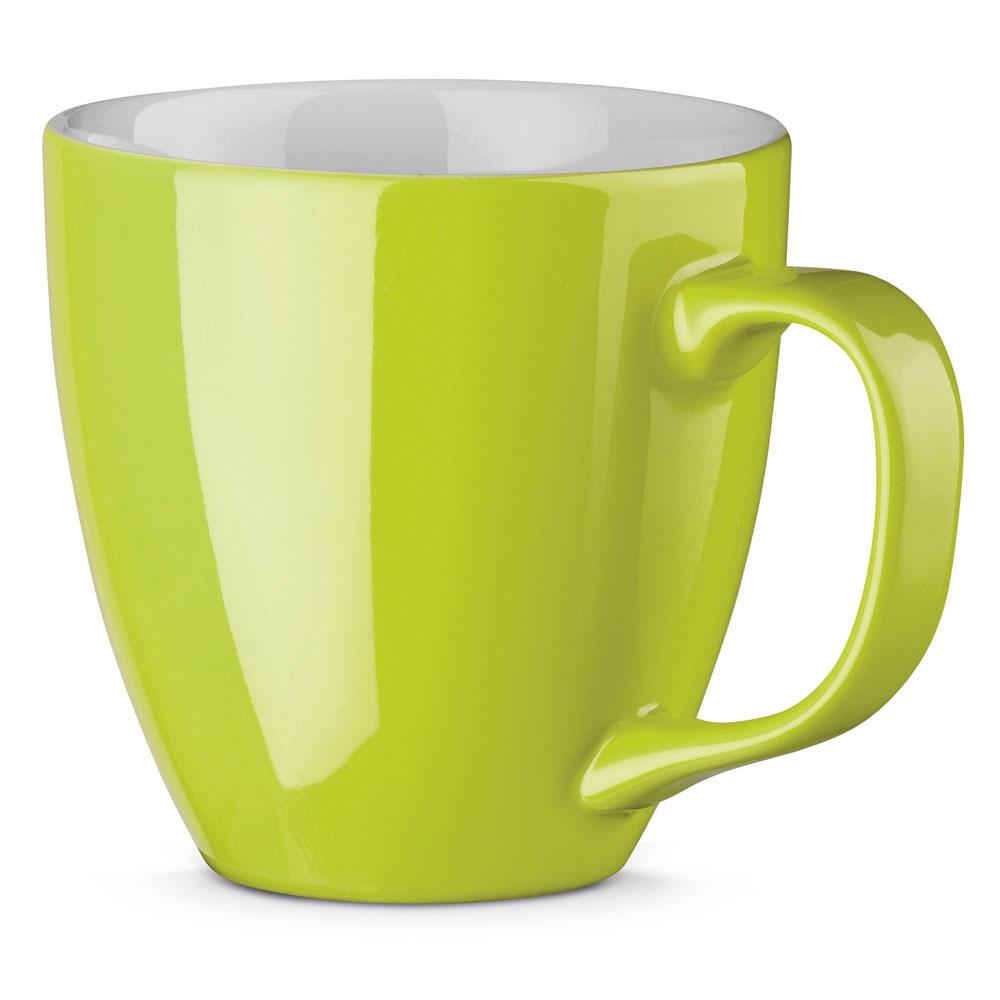 Porzellanbecher per Hydrolack farbig Grün Apfelgrün gespritzt
