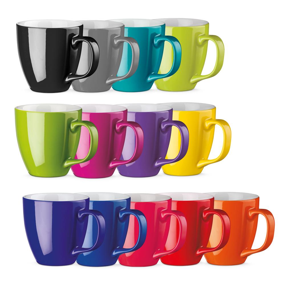 Porzellanbecher Set per Hydrolack farbig glasiert nach Pantone