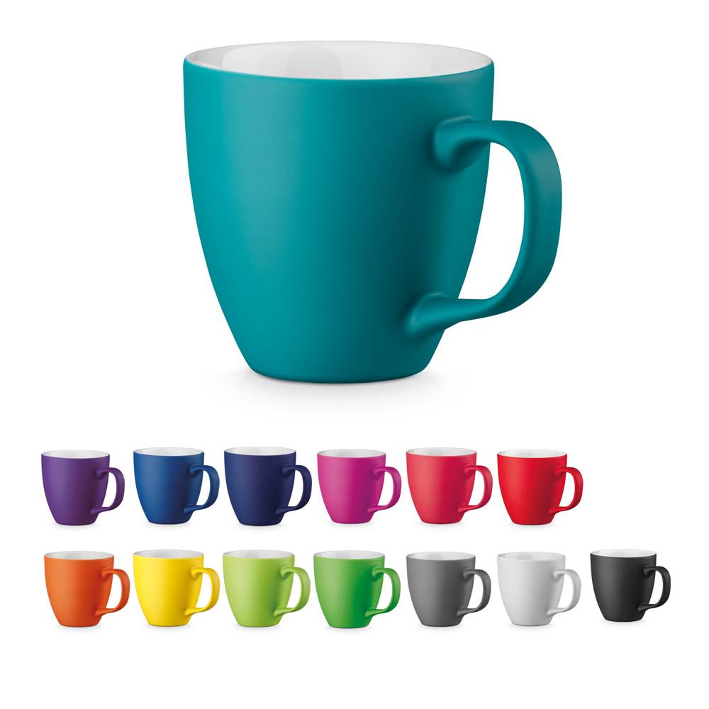 Farbtassen Porzellantassen per Hydrolack farbig matt gespritzt Set