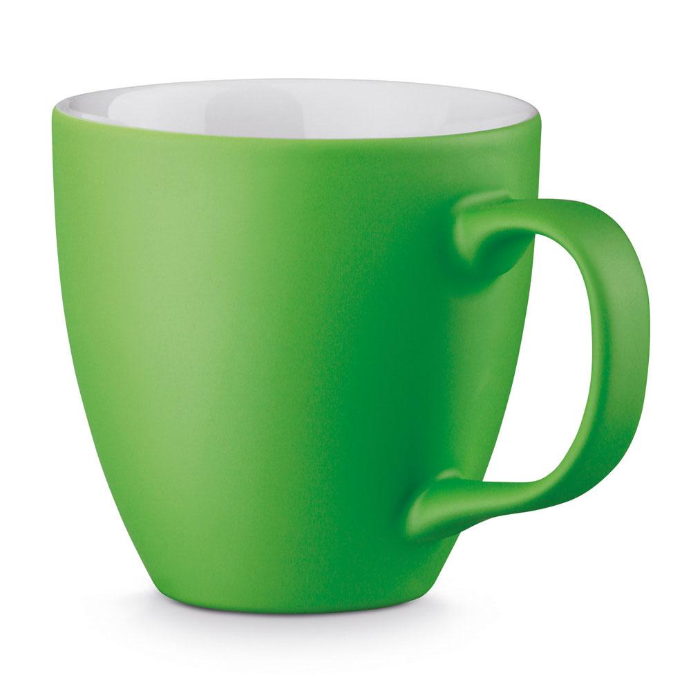 Porzellantasse mattfarbig GRÜN GREEN per Hydrolack gefärbt