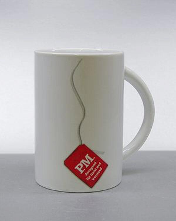 Porzellan Tasse CELINE Andruck