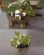 Glanzgold Metalicfarben Sparschwein Muster