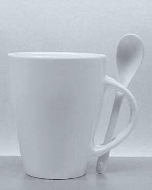 Porzellan Loeffelbecher SPOON - Tasse mit Löffel -105905FO