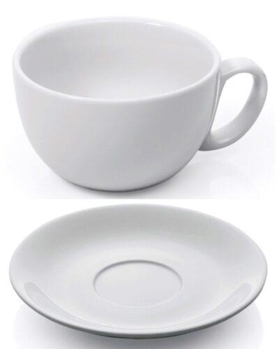 Frühstückstasse Cafe Latte 0,35l_ITALIA Porzellan