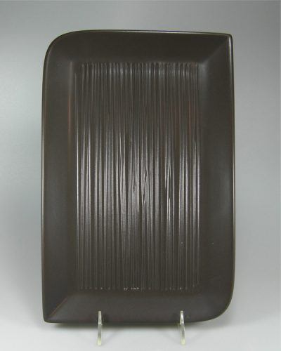Grillplatte BBQ Planscha Teller Keramik Linienstruktur